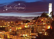 Coit Tower San Francisco Regional Holiday Cards